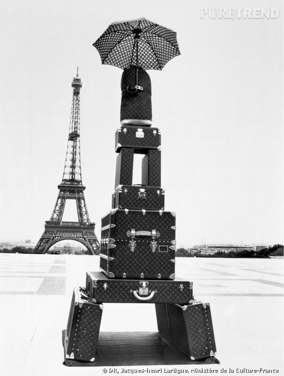 """""""Sur le thème Louis Vuitton, une fantaisie de Jacques Henri Lartigue""""  1978."""