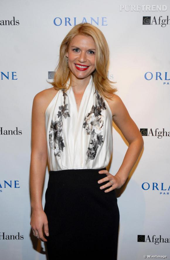 Claire Danes à la soirée Afghan Hands and Orlane Foundraiser to Benefit Afghan Hands à New York.