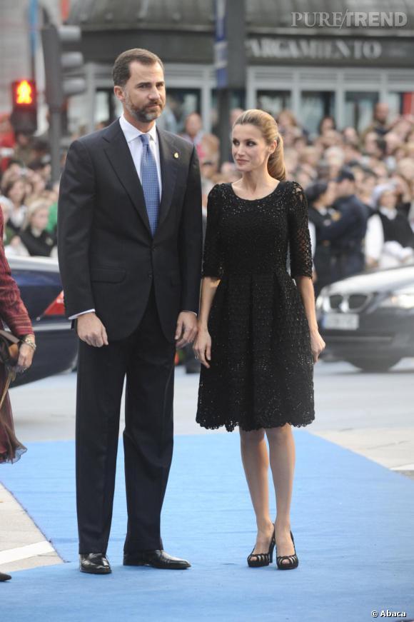 Princesse Letizia Ortiz au côté de son époux le Prince Felipe.