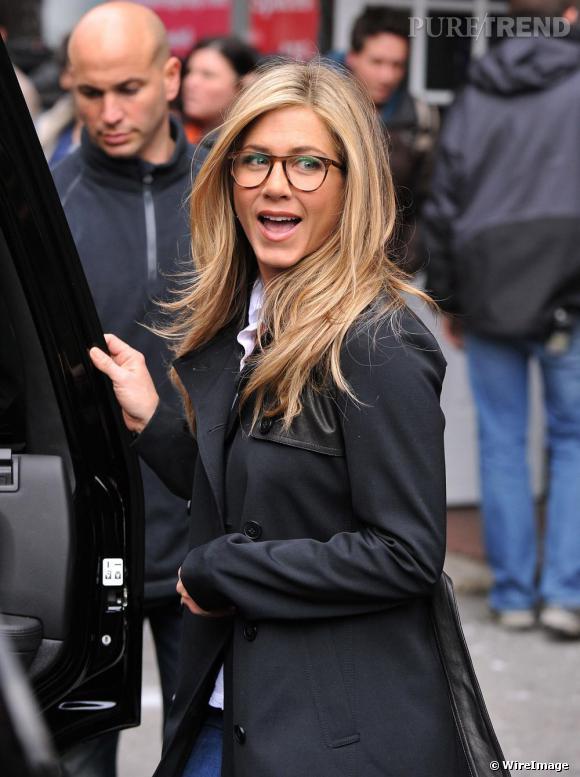 Jennifer Aniston sur le tournage de Wanderlust.