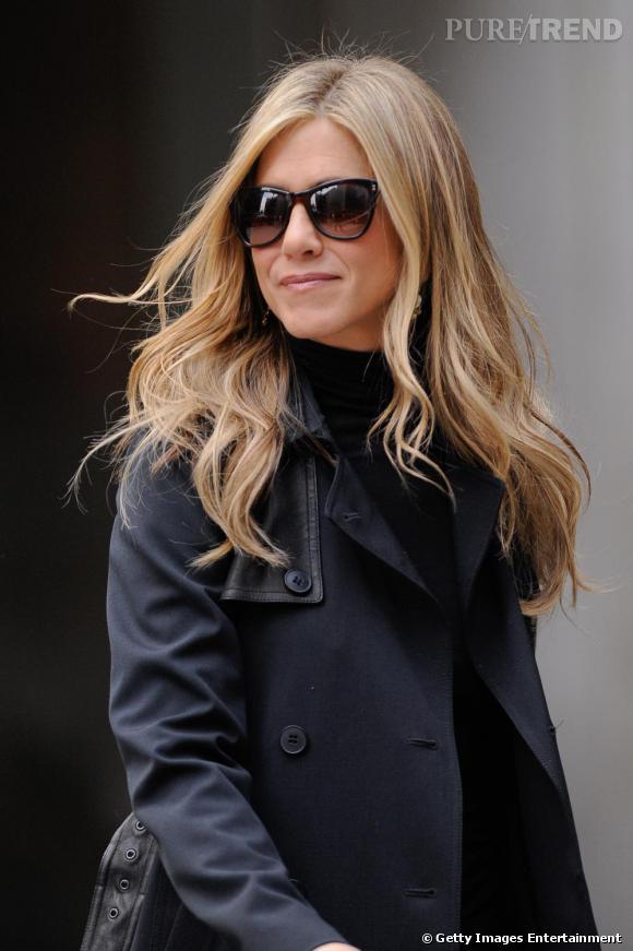 Jennifer Aniston sur le tournage de Wanderlust à New-York.