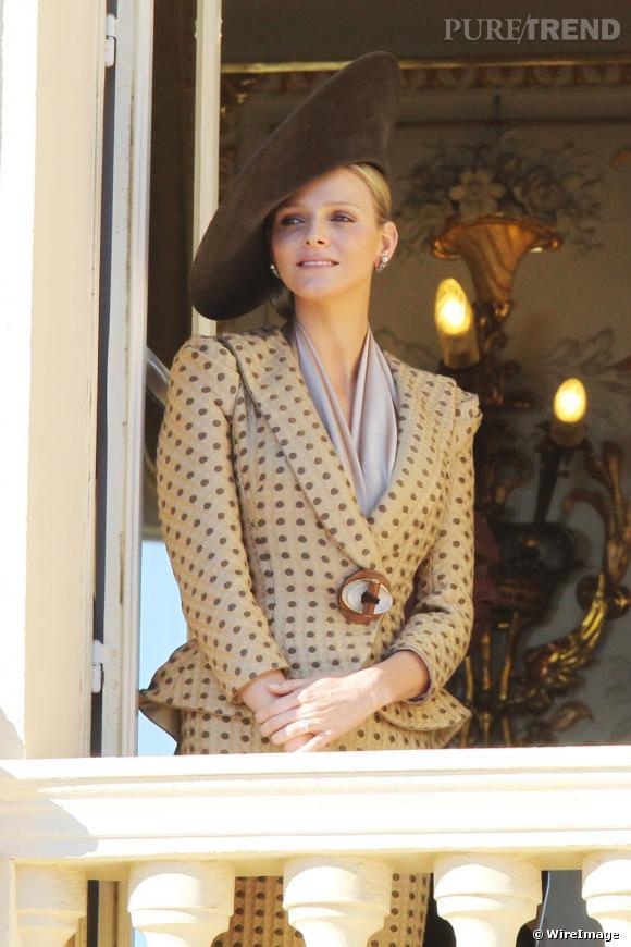 Charlene Wittstock, sublime pour la fête nationale de Monaco.