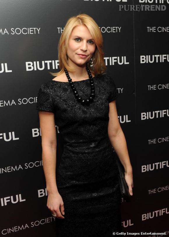 "Claire Danes à la projection de ""Biutiful"" par The Cinema Society à New York."