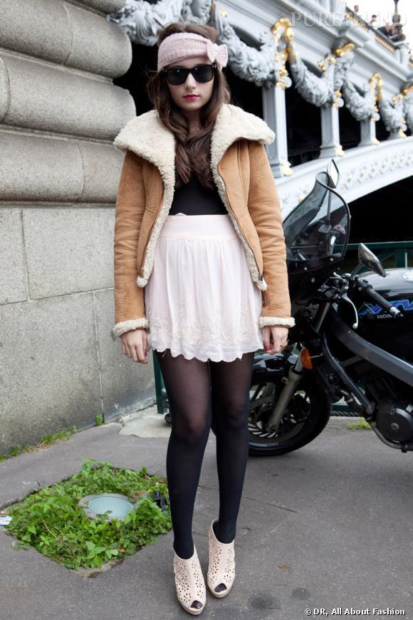 La veste en peau lainée, ou la it-veste de l'hiver.