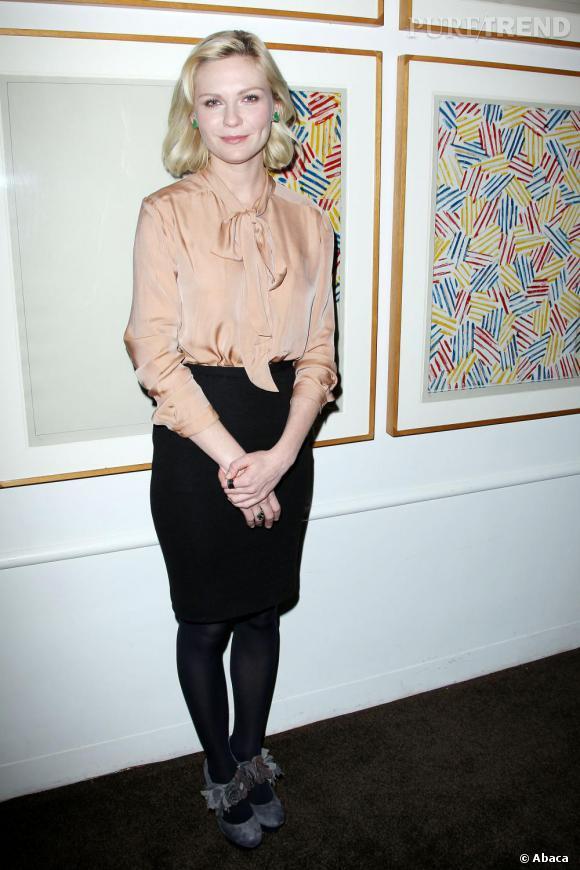 """Kirsten lors de la présentation à New-York de son nouveau film """"All Good Things""""."""