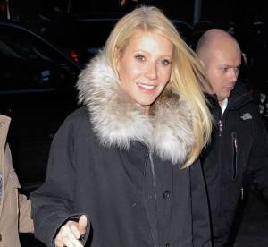 Gwyneth Paltrow, la parka version girly... A shopper !