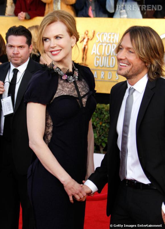 Nicole Kidman et Keith Urban lors des Screen Actors Guild Awards 2011, à Los Angeles.