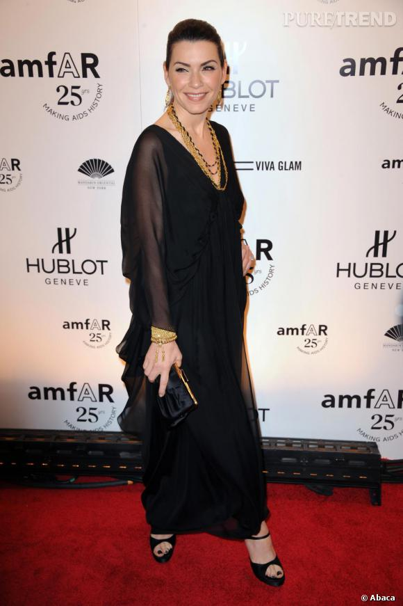 Julianna Margulies, au gala de l'amfAR, à New-York.