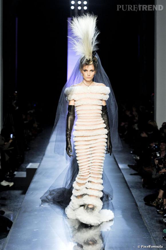 Andrej Pejic, mariée du défilé Haute Couture Jean-Paul Gaultier.