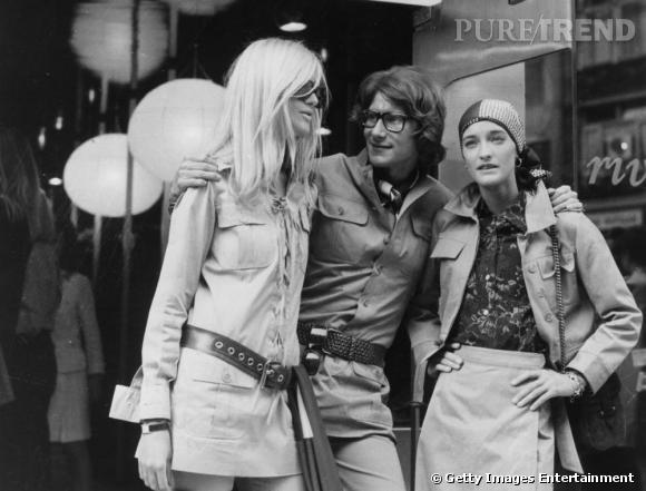 Betty Catroux, Yves Saint Laurent et Loulou de la Falaise.
