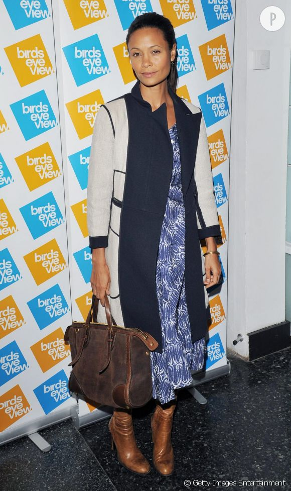 Thandie Newton lors de la projection de Equals on film, lors du gala de l'Oxfam à Londres.