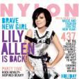 Lily Allen en black & white.