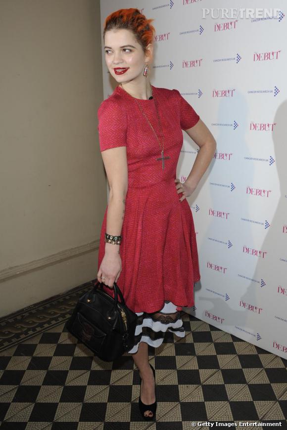 """Pixie Geldof à la soirée caritative """"The Debut"""" par Henry Holland, à Londres."""