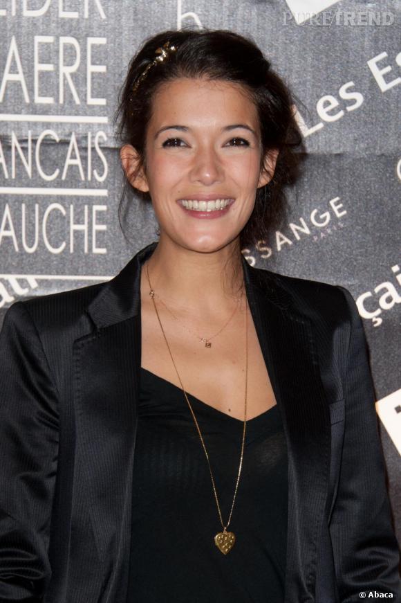 Mélanie Doutey au Prix Romy Schneider et Patrick Dewaere, au Bon Marché, à Paris.