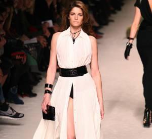 En 2008, Stephanie fréquentait encore les podiums comme celui de Jean Paul Gaultier pour Hermès.