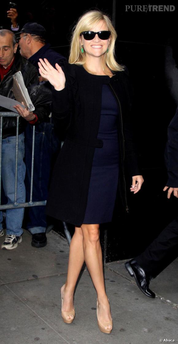 "Reese Witherspoon à la sortie de l'émission ""Good Morning America"" à New York."