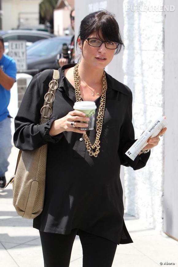 Selma Blair dans les rues de Los Angeles.