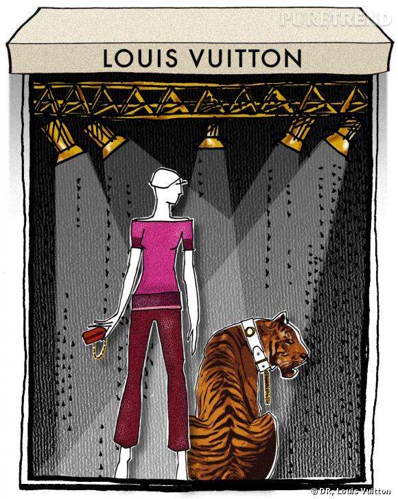 Vitrines de la boutique Louis Vuitton à Cannes.