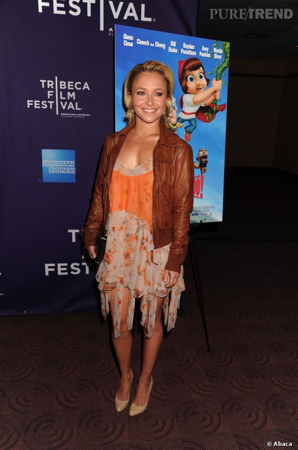 Hayden Panettiere au Tribeca Film Festival en robe folk pas vraiment flatteuse.