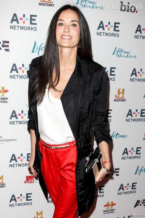 Demi Moore au A&E Television Network à New York.