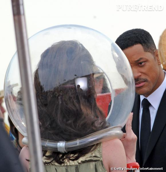 "Will Smith sur le tournage de ""Men in Black III"". Nicole ?"