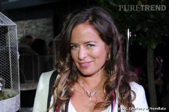 Jade Jagger à Paris, lors de la présentation de sa collection pour Morellato.