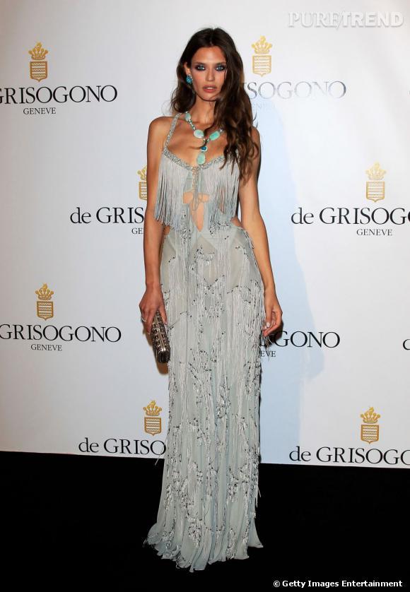 Bianca Balti lors du diner De Grisogono à Cannes.
