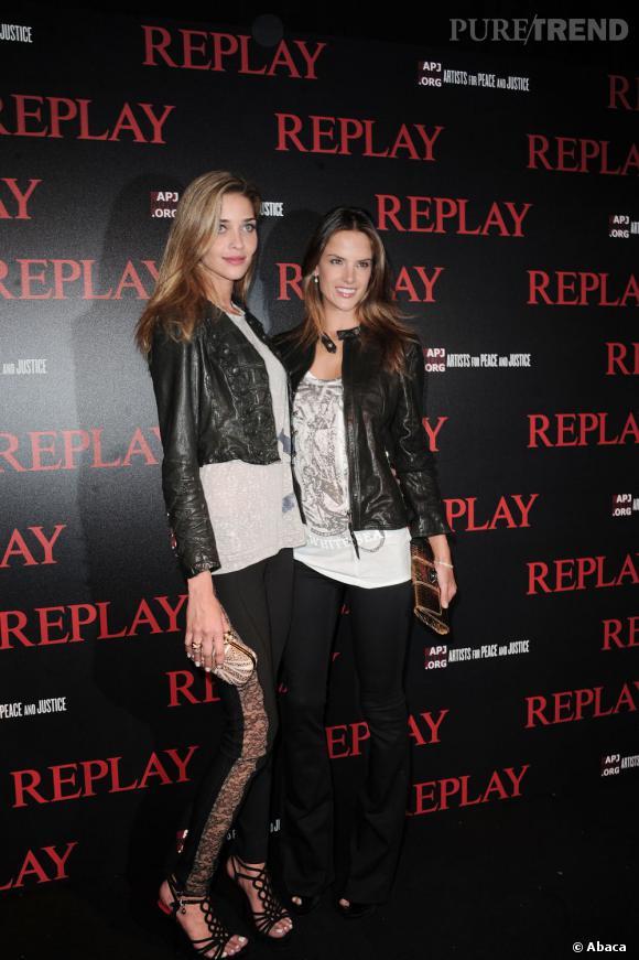 Ana Béatriz Barros et Alessandra Ambrosio, très rock'n roll.