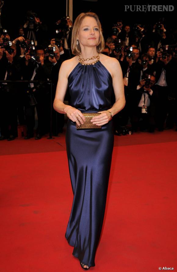 """Jodie Foster, à Cannes, pour l'avant-première du film """"Melancholia""""."""