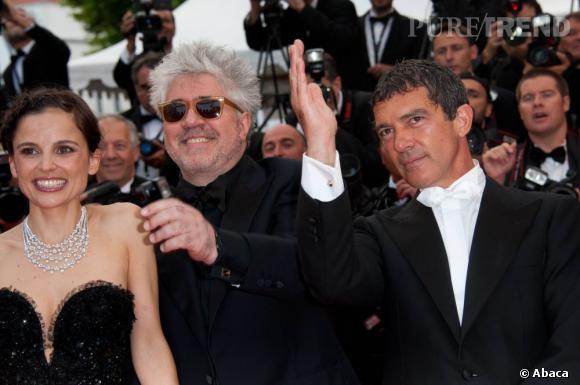 Pedro Almodovar entouré de ses acteurs, Elena Anaya et Antonio Banderas.