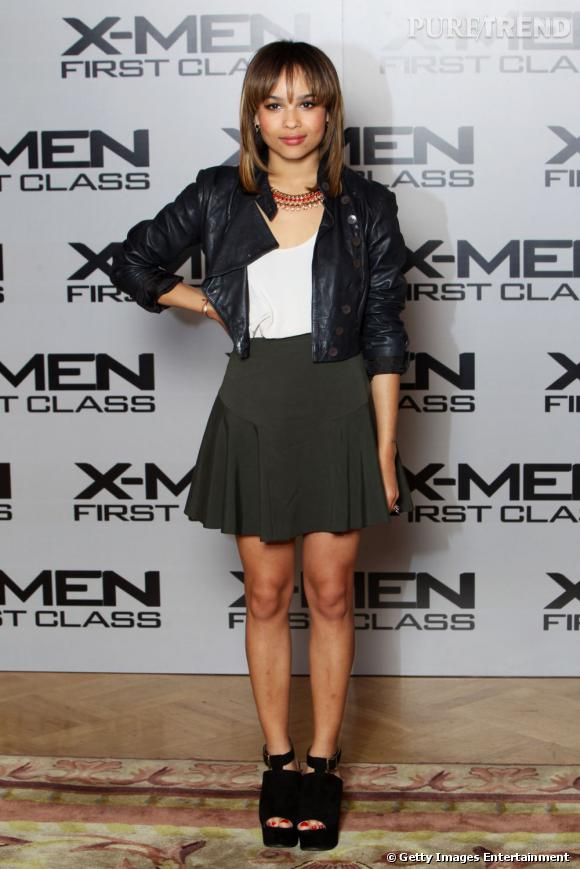 "Zoë Kravitz lors du photocall du film ""X-Men First Class"", à Londres."