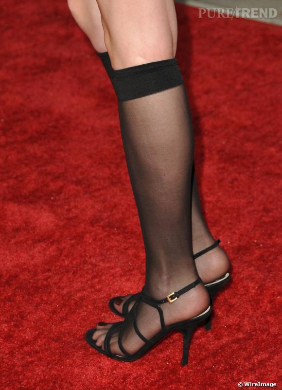La couture des collants portés avec des sandales S il vous plaît, s ... 5974e7d0eb85