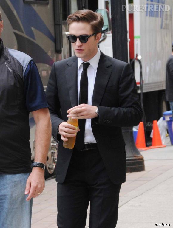 Robert Pattinson en tournage à Toronto.