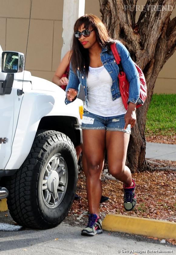 Serena Williams, streetwear à Miami.