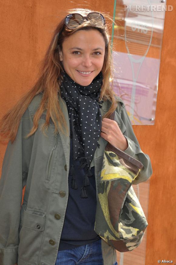 Sandrine Quetier à Roland Garros.