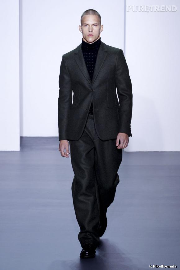 Défilé Calvin Klein Collection Homme, automne-hiver 2011/2012.