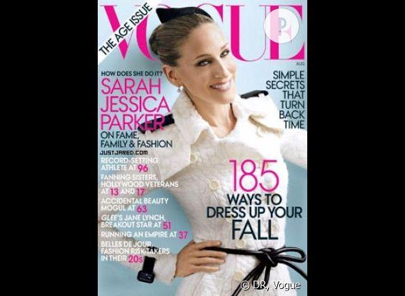 """Sarah Jessica Parker, pour le """"Vogue US"""" du numéro d'août 2011."""