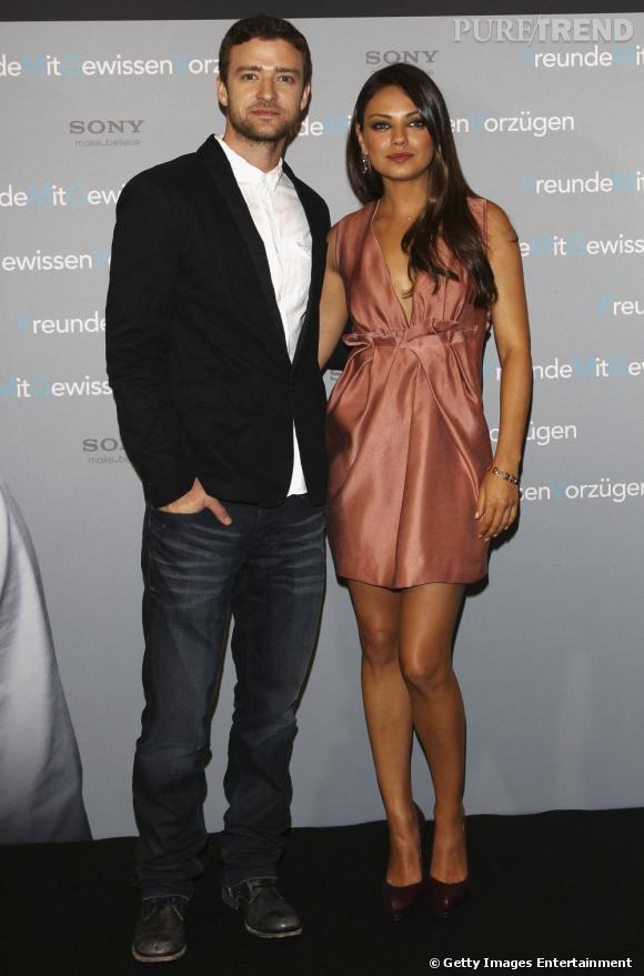 "Mila Kunis et Justin Timberlake pour ""Friends with Benefits"", à Berlin."