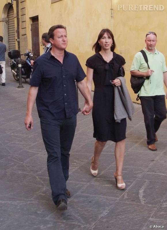 Samantha Cameron joue les femmes chic dans les rues pavées de la Toscane.