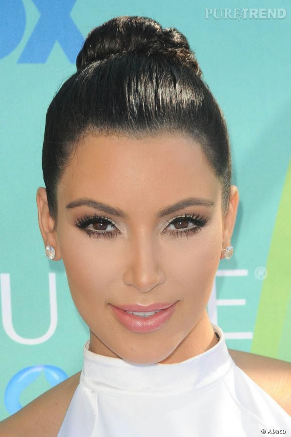 Le Regard Est Travaille Au Crayon Blanc Dommage Kim Kardashian