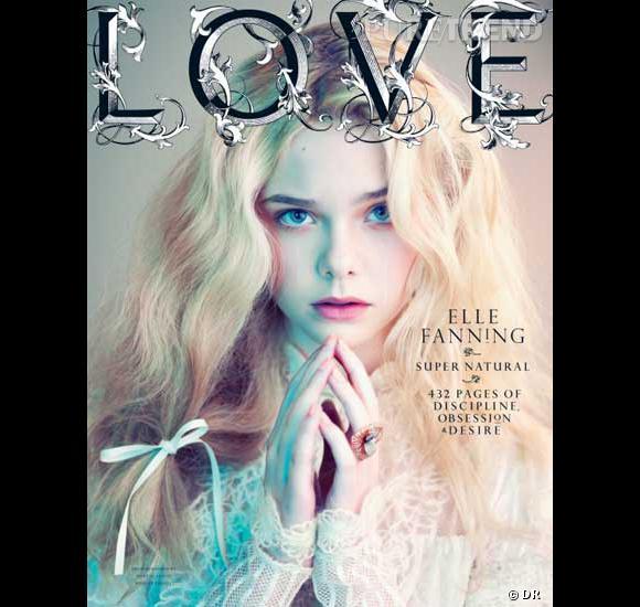 Elle Fanning en couvertre du LOVE automne-hiver 2011/2012.