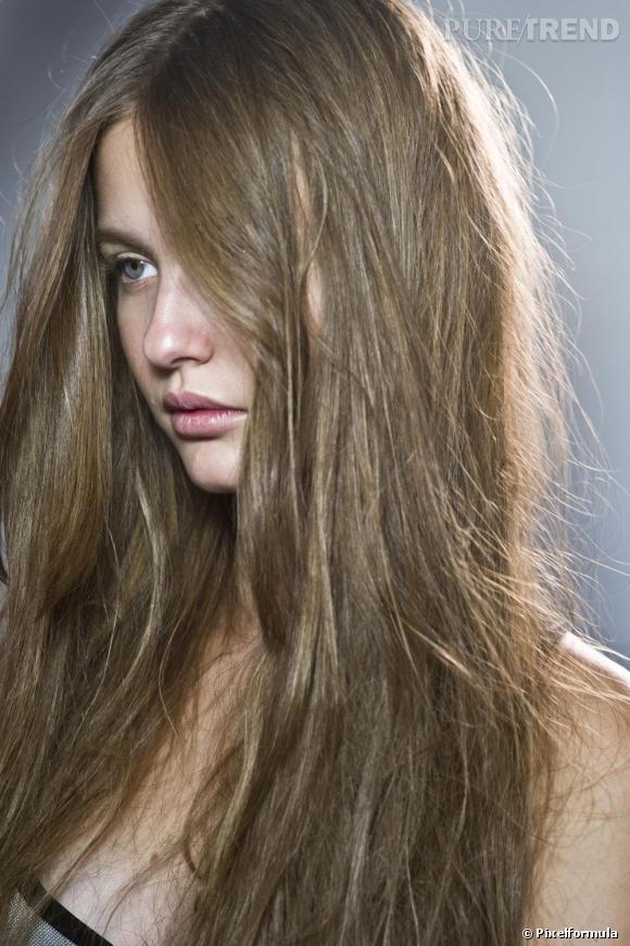 Les soins des cheveux ternes.