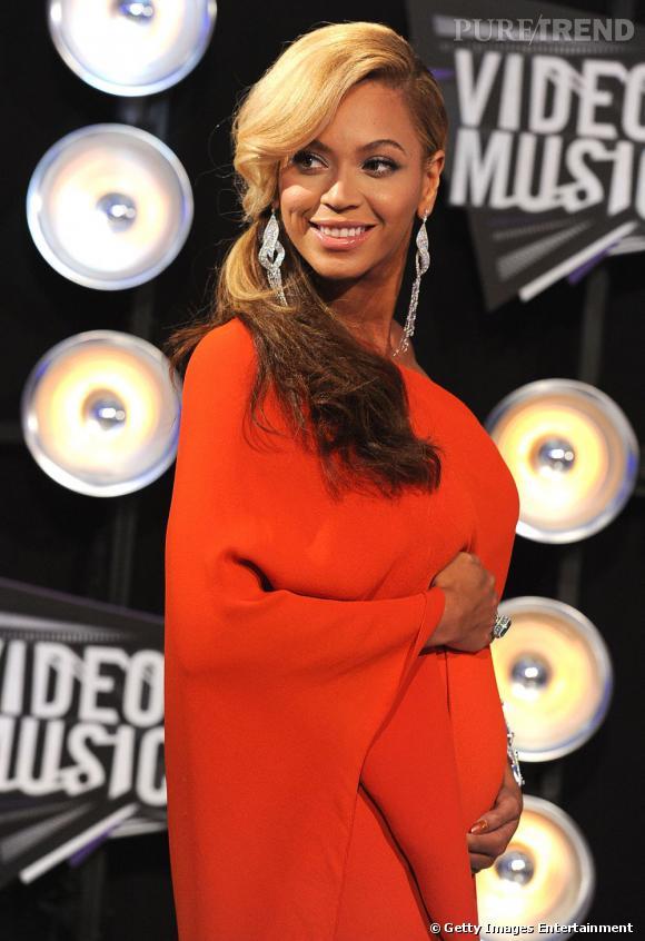 Beyonce enceinte aux MTV Video Music Awards.