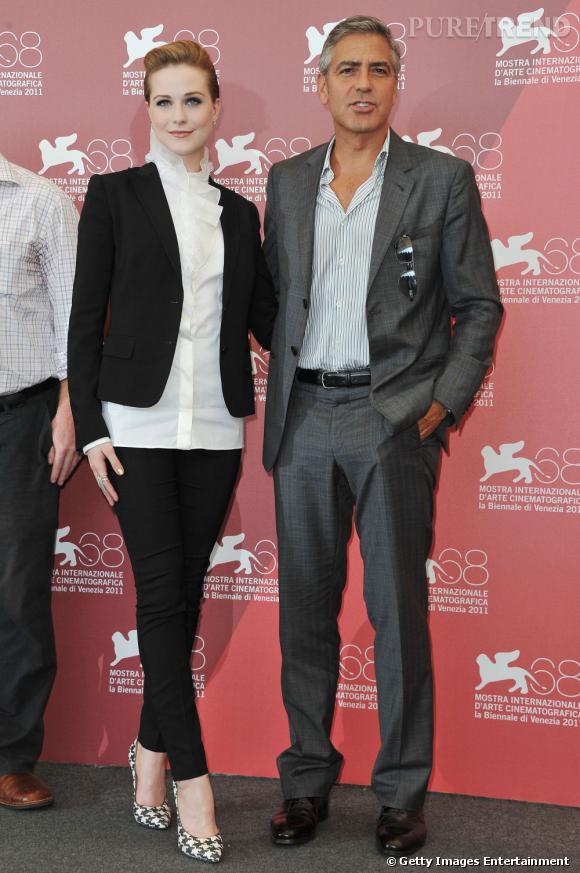 Evan Rachel Wood et George Clooney, le séducteur de ces dames.