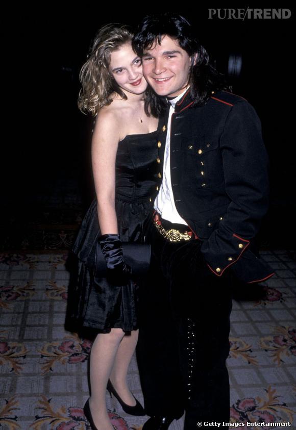 En 1989, Drew s'affiche avec un autre enfant star, Corey Feldman.