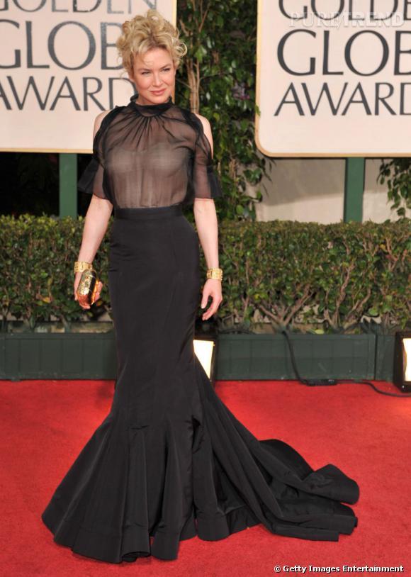 Le pire :  Renée est décidément capable de belles horreurs, ce look en est la preuve irréfutable !