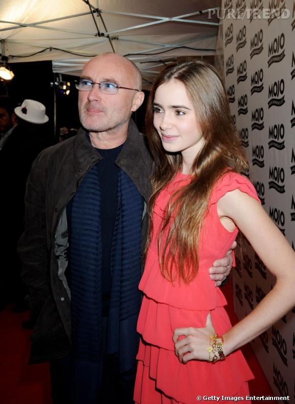 La jeune Lily s'offre un joli pedigree avec comme père le chanteur Phil Collins.