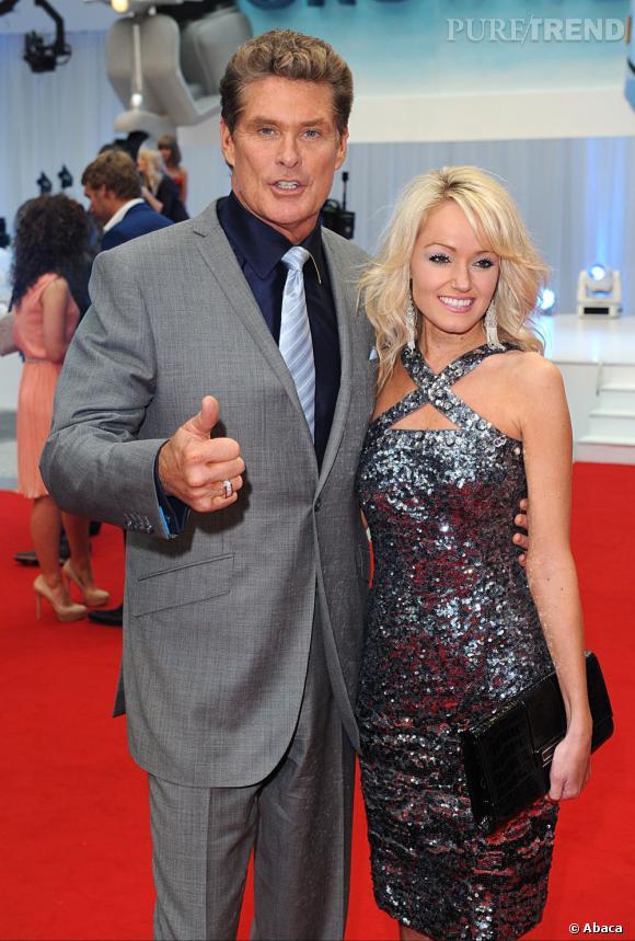 David Hasselhoff et sa petite amie Hayley Roberts.