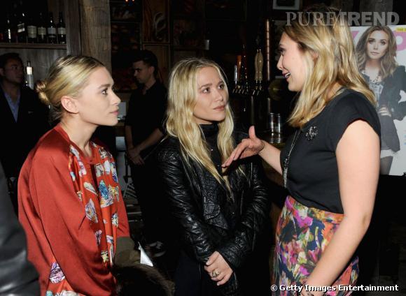 Mary-Kate et Ashley Olsen se rendent à la soirée Nylon organisée en l'honneur de leur soeur Lizzie.