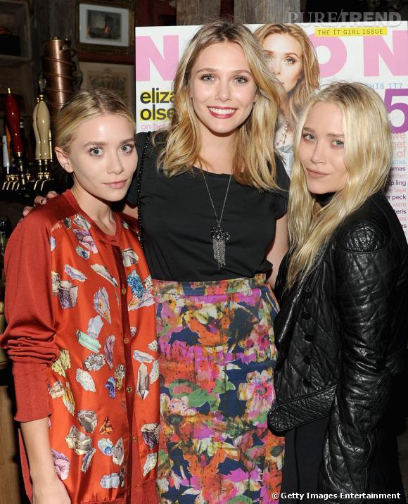 Mary-Kate, Ashley et Lizzie Olsen, un trio décidément très mode.